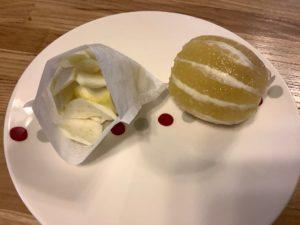 お茶パックに入っているレモンの皮と種